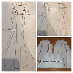 Size by request, mermaid dress pattern basic 😍 . Mermaid Dress Pattern, New Dress Pattern, Gown Pattern, Skirt Patterns Sewing, Clothing Patterns, Fashion Sewing, Diy Fashion, Evening Dress Patterns, Mermaid Diy