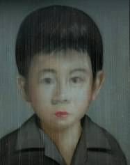 "Painting - Portrait by Thai Artist Attasit Pokpong ""Boy"" 180x140cm at Tusk Art Gallery"