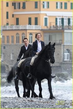 Jonathan Rhys Meyers: 'Belle' Kiss with Natalia Vodianova: Photo Jonathan Rhys Meyers suits up while filming scenes for his upcoming drama, Belle du Seigneur, with Natalia Vodianova on Tuesday (November in Camogli, Italy. Jonathan Rhys Meyers, Natalia Vodianova, Beautiful Horses, Beautiful People, Princess Of England, Horse Barn Designs, Reign Fashion, Equestrian Chic, Horse Fashion