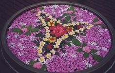 Flower Mandala in Bali. Click here to read more about how art is woven into daily life in Bali http://www.ninadesigns.com/blog/2010/02/22/bali-beads-art/ #bali #travel