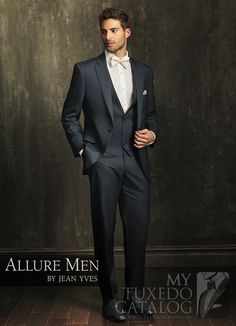 Slate Blue 'Allure' Tuxedo from http://www.mytuxedocatalog.com/catalog/rental-tuxedos-and-suits/C1003-Slate-Blue-Allure-Tuxedo/