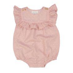 Louis Louise Baby Elie Eyelet Lace Romper, Pink - shopminikin