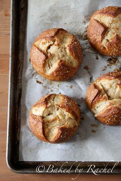 Beer Pretzel Bowls... perfect for thick, creamy soups, baking dips & pastas and more.