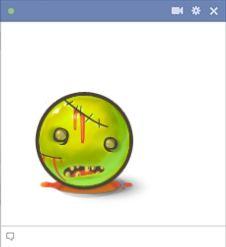 Scary Facebook emoticon