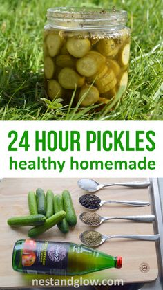 Easy homemade sweet can be made in 24 hours. If you like pickles try this easy recipe for healthy homemade pickles using apple cider vinegar. All the flavour of pickles but with the nutrition of fresh cucumbers. Can be made with any sized cucumber. Healthy Recipes, Healthy Snacks, Healthy Chef, Healthy Nutrition, Kefir, Homemade Sweets, Homemade Pickles, Cucumber Recipes, Sauces