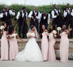 """The good times! #Repost @samanthaclarke ・・・ Got a little tip that works great for fun bridal party photos! I love to get them singing Oh Happy Day from Sister Act. This shot was right at the best part... """"He taught me howwwwwwww To wash Fight and pray..."""" #samanthaclarkephotography #TBT #weddingphotography #photographytips #bridalparty #lyrics #throwback #blackbride1998"""