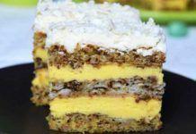 Un desert minunat – prajitură Victoria cu nucă și cremă fină de vanilie Beignets, Something Sweet, Appetizers For Party, Let Them Eat Cake, Kitchen Gadgets, Caramel, Bacon, Cheesecake, Sweets
