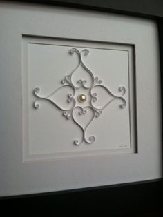 """""""Heart Scrolls"""" paper quilling"""