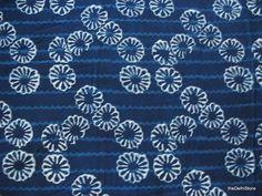 Indian Cotton Fabric - Vegetable Indigo Dye Fabric - Block Print / Stamped Fabric Yardage