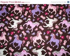 ON SALE Sweet Pony Fabric by Michael Miller 1 by sewcraftscorner, $7.57