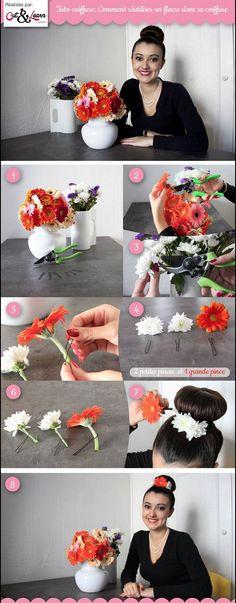 Voici un petit tuto photo tout en fleur et en couleur rien que pour vous !!!