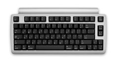 "My take:The strong silent type. ""Matias Mini Laptop Pro Bluetooth Keyboard, silver w/Quiet Click"""
