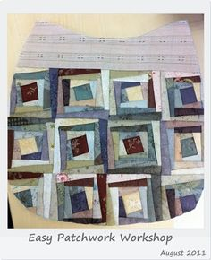 """In July I had a chance to participate in the """"Easy Patchwork and Quilting Bag"""" Class with a well-known Quilting teacher in Thailand. It was ..."""