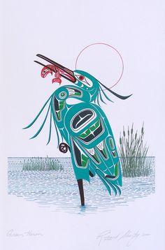 heron painting (WA native American style)