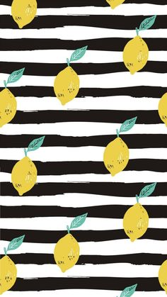Lemon-Black-and-White-Stripe-Phone-Wallpaper.png 1 920 пикс - My Wallpaper Summer Wallpaper, Striped Wallpaper, Trendy Wallpaper, Aesthetic Iphone Wallpaper, Cute Wallpapers, Aesthetic Wallpapers, Phone Wallpapers, Black And White Wallpaper Phone, Lemon Background