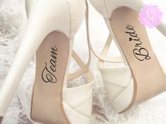 Check out this item in my Etsy shop https://www.etsy.com/uk/listing/257983457/bridesmaid-wedding-shoes-decal-team