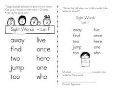 Is there a correlation somewhere between reading levels and sight words?  I don't think this is it...but I'd like to be more strategic about which words will support readers to tackle the next level.