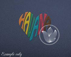 Digital Havana Word Art Havana jpg png eps svg dxf
