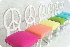 color peaceful chairs..