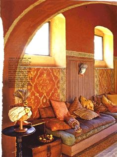 beautiful oranges, pinks and golds - moroccan decor