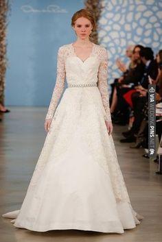 Oscar de la Renta Bridal Spring 2014   VIA #WEDDINGPINS.NET