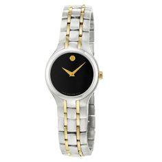 Movado Women's 0606372 'Portfolio' Yellow Goldplated Steel Quartz Watch | Overstock.com Shopping - The Best Deals on Movado Women's Watches