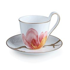 magnolia cup and saucer from royal copenhagen