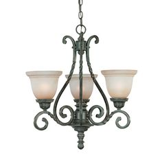 """18""""W x 21.5""""D Sutherland English Toffee Three Light Chandelier Jeremiah By Craftmade Candles W/ 2 Or 3 S"""