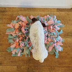 Op internet zie ik regelmatig snuffelmatten voorbij komen. Een snuffelmat is een mat met slierten stof eraan. Hiertussen kun je snoepjes of brokken verstoppen. Je hond moet op zijn neus afgaan om het lekkers te vinden. Het leek me leuk om zelf een snuffelmat te maken voor Poes. Zo gezegd, zo gedaan. In dit blog … Toy Puppies, Labradoodle, Diy Stuffed Animals, Border Collie, Loki, Animals And Pets, Labrador, Bunny, Diva