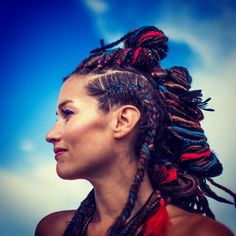 by ian. Burning Man Hair, Box Braids Hairstyles, Festival Fashion, Festival Style, Eclectic Style, Man Photo, Cornrows, Portrait, Hair Inspiration