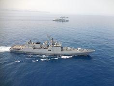 Συνεκπαίδευση του ΠΝ με Πολεμικά Σκάφη της Ινδίας (φώτο)