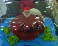 Wow, Santa really let himself go: | 21 Hilariously Awful Christmas Cake Fails