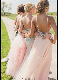 backless #bridesmaid dresses, hair
