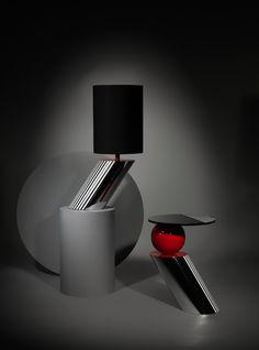 Drunken Side Table & Drunken Table Light | #LeeBroom #Design