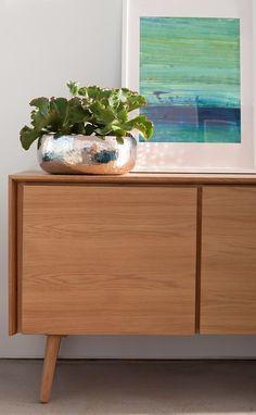 Organize flatware, or use as an entertainment unit. Modern Sideboard, Interior Decorating, Interior Design, Mid Century Furniture, Modern Furniture, Wood Furniture, Classic Furniture, Organizer, Decoration