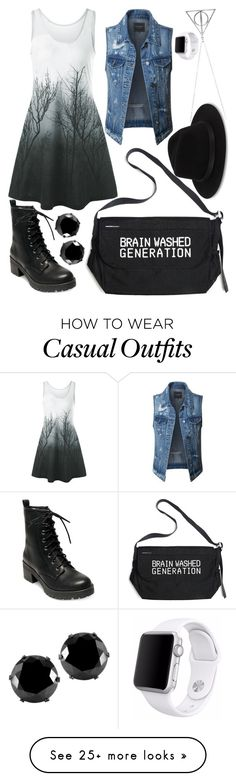"""Casual Cutie"" by fashionvoice7 on Polyvore featuring LE3NO, Madden Girl, Undercover, Saks Fifth Avenue, West Coast Jewelry and Apple"