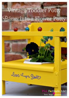 What's not to love about an old, sad toddler potty covered in 60-year old pee right? Wait until you see what it bloomed into!