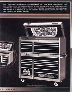 Harley Davidson 100th Anniversary Items | Harley Davidson 100th Anniversary Snap-on Tool Box New Auctions - Buy ...