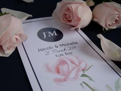 Rose wedding program by Willie wagtail design Wedding Stationary, Wedding Programs, Invites, Wedding Invitations, Craft Wedding, Rose Wedding, Crafts, Design, Wedding Stationery