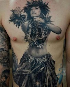 Hula Dancer Tattoo