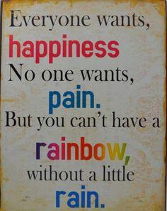 Rainbow = Rain and Sunshine