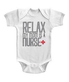 Look at this #zulilyfind! White Nurse Mom Bodysuit #zulilyfinds