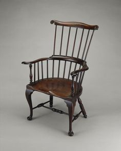 FARMHOUSE – INTERIOR – early american decor inside this vintage farmhouse seems perfect, like this american windsor chair from 1760-1768.