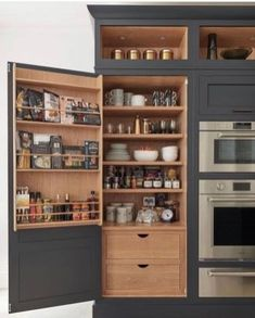 Nice 40 Clever Kitchen Storage Ideas and Trends to Minimize Your Kitchen . - Nice 40 Clever Kitchen Storage Ideas and Trends to Minimize Your Kitchen Crises … – - Clever Kitchen Storage, Kitchen Pantry Design, New Kitchen Cabinets, Home Decor Kitchen, Kitchen Interior, Awesome Kitchen, Soapstone Kitchen, Kitchen Countertops, Pantry Interior