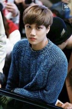 Kai Jongin modeling a sweater for exo. How can this picture of innocence become that resident bad boy so quickly? Exo Kai, Chanyeol Baekhyun, Park Chanyeol, Chanbaek, Kaisoo, Chen, Kpop, Seoul, Rapper