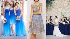 Matrimonio a tema blu, damigelle abito blu