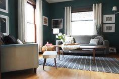 Dark Teal Living Room
