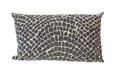 Aztec Cobblestone Cushion Charcoal - Raine and Humble available from Maison Royale