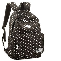 UZZO 2014 Fashion Style Polka Dot Canvas Unisex Women and Man Canvas Rucksack Casual Daypack Backpack Laptop backpack College Bookbag Book Tote Bag for Teens Students School Bags (Black) UZZO http://www.amazon.com/dp/B00LVSVMD4/ref=cm_sw_r_pi_dp_heB5tb1CB8HRF