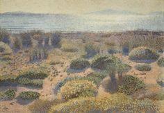 Henri-Edmond CROSS, Plage de la Vignasse, les Iles d'Or, 1891-1892, huile sur toile, 65,5 x 92,2 cm © MuMa Le Havre / David Fogel